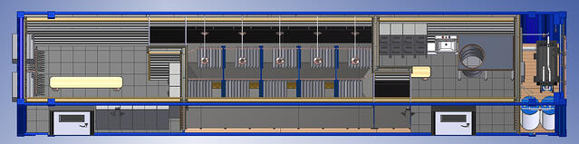 containerized decon shower, containerized decon shower rental, portable decon shower, decon shower trailer rental