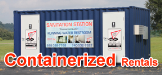 containerized rentals, rent containerized office, rent containerized restroom, rent containerized shower,