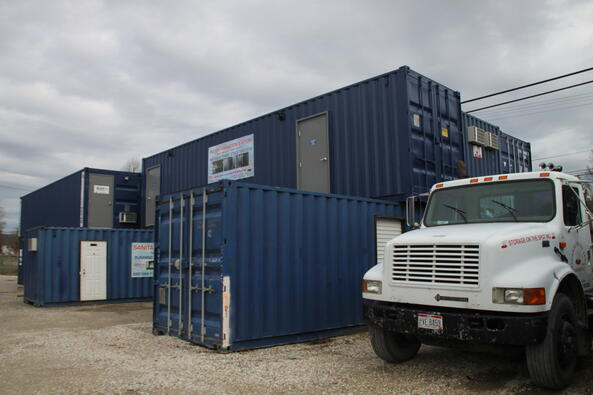 Johnny on the Spot, Storage on the Spot, Containerized restrooms, containerized showers, rent restroom trailers, rent shower trailers,