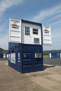 Storage on the Spot, DropOffice, portable office trailer, job site office, office trailer, portable office, stackable office