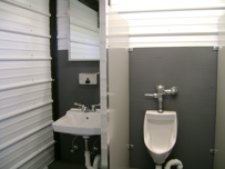 portable containerized restroom rental, containerized restroom trailer rental, portable restroom trailer rental,