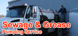johnny on the spot, sewage pumping, septic tank service, septic pumping service, sewage tank pumping, water hauling, grease trap pumping, grease pumping