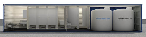 containerized restroom rental, rent a restroom trailer, restroom trailer rental, johnny on the spot