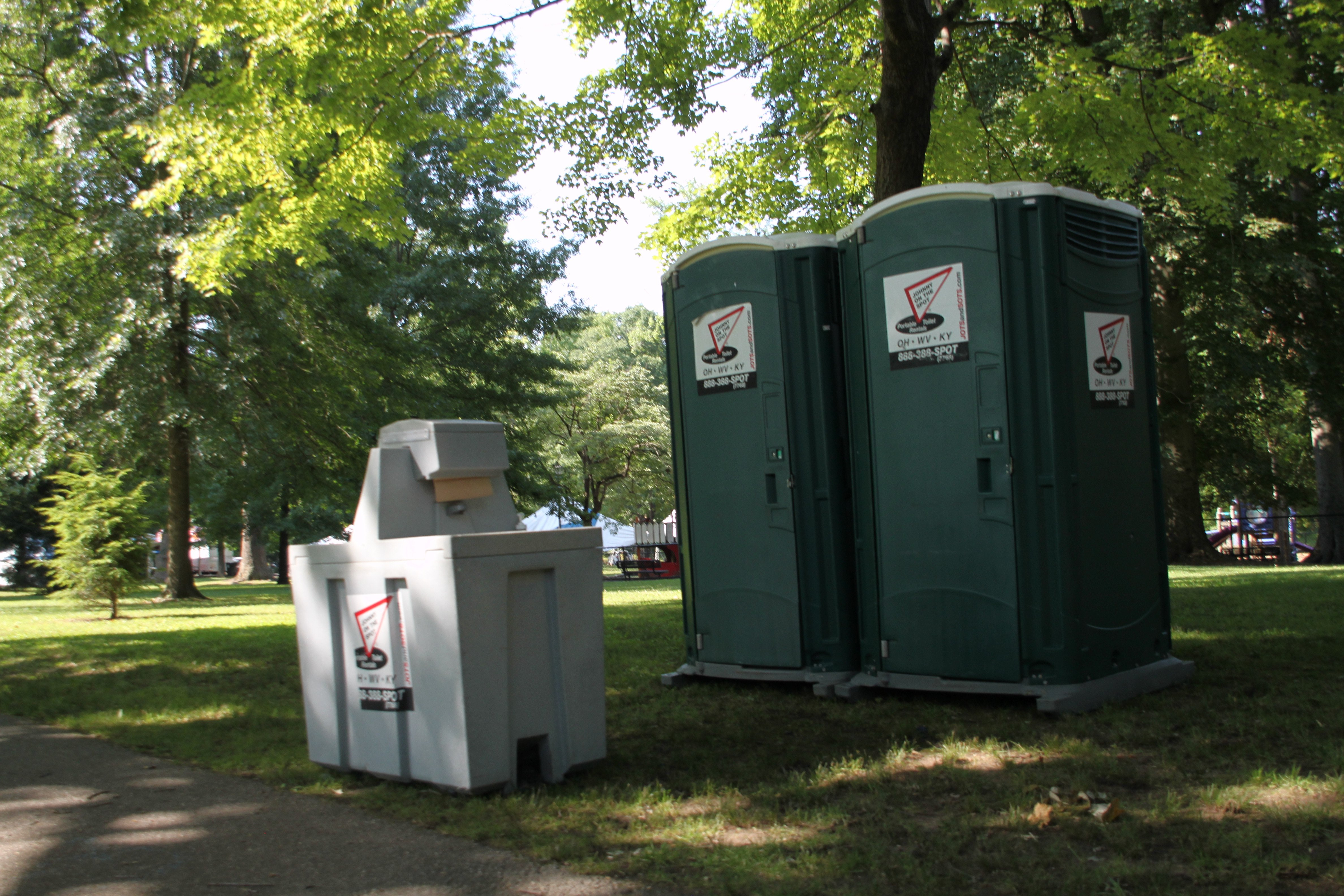 Johnny on the spot portable toilets and porta potty - Portable bathroom rentals for weddings ...